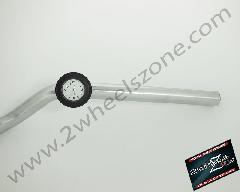HANDLE BAR WATCH IN BLACK WITH WHITE DIAL