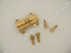 HANDLE CLAMP BRASS WITH BRASS BOLTS