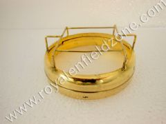 HEAD LAMP RING WITH GRILL INNER OUTER IN BRASS