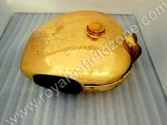 FUEL TANK BRASS 25LITRES ENGRAVED WITH PAD AND MONO