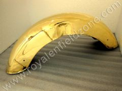 BRASS OLD STYLE SIDE NO PLATE FRONT MUDGUARD