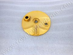 BRASS COLOUR FRONT BRAKE SHOE PLATE (NO BRASS IN ALLM)