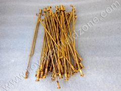 BRASS COLOUR SPOKES (NO BRASS IN STEEL)