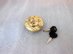 ENGRAVED BRASS TANK CAP LOCKABLE
