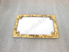 REAR NO PLATE WITH ENGRAVED BRASS FRAME