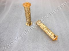 ENGRAVED BRASS HAND GRIPS