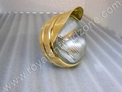 BRASS HEAD LAMP RING WITH HEAD LAMP PEAK