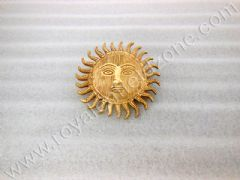 BIG SUN GOD LOGO IN BRASS