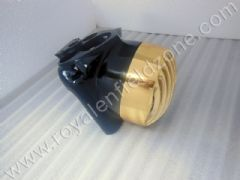 HEAD LAMP GRILL HARLEY DESIGN IN GOLD COLOR
