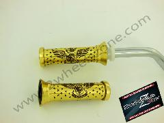 BRASS HAND GRIPS ENGRAVED TYPE 3
