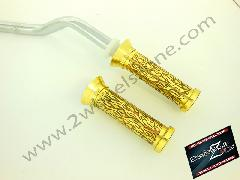 BRASS HAND GRIPS ENGRAVED TYPE 4