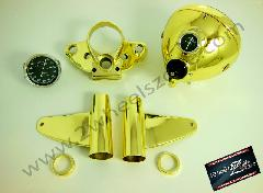 HEAD LAMP ASSY OLD MODEL IN GOLD COLOR