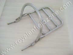 PILLION BACKREST PIPE IN CHROME WITH CARRIER