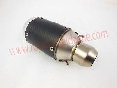 Sport bike exhaust can silencer