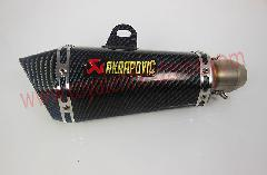 Sport bike exhaust akrarovic carbon