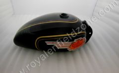 STD FUEL TANK IN BLACK PAINT WITH GOLD LINING