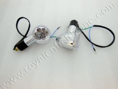 LED BLINKERS IN WHITE GLASS