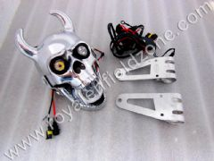 SKULL HEAD LAMP WITH MOVABLE JAW ,BRACKETS AND PROJECTOR LAMP