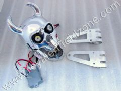 SKULL HEAD LAMP WITH MOVABLE JAW ,BRACKETS AND HID
