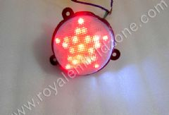 CLASSIC TAIL LAMP LED WHITE GLASS STAR DESIGN