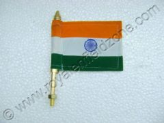 BRASS FLAG ROD WITH INDIAN FLAG