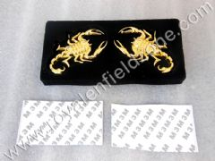 GOLDEN SCORPIO IN METAL WITH 3 M TAPE