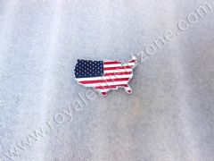 USA FLAG IN METAL WITH 3 M TAPE