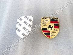 PORSCHE LOGO IN METAL WITH 3 M TAPE