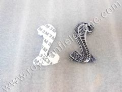 SNAKE LOGO IN METAL WITH 3 M TAPE