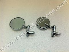 BAR END MIRRORS ROUND CHROME