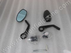 CONTINENTAL STYLE BAR END MIRROR IN BLACK