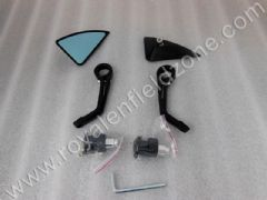 TRIANGLE BAR END MIRROR IN BLACK