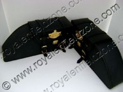 HARLEY STYLE BAGS WITH BRASS MONO AND LOCK