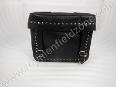 SQUARE SADDLE BAG LEATHER WITH RIVETS