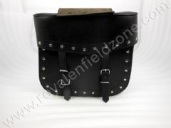 SQUARE SADDLE BAG LEATHER WITH RIVETS TYPE 2