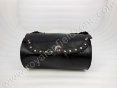 ROUND TOOL BAG BIG WITH RIVETS IN LEATHER