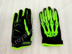GLOVES WITH SKULL HAND (RADIUM)