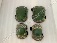 KNEE AND ELBOW GUARD KIT IN GREEN CAMOUFLAGE