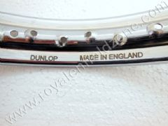 WHEEL DUNLOP MADE IN ENGLAND ENGRAVED