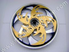 ALLOY WHEELS WITH BRASS SPINNER