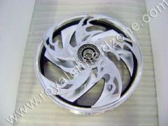 ALLOY WHEELS WITH CUSTOM SPINNERS