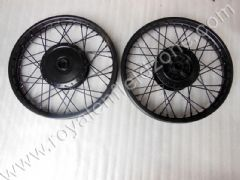 SPOKE WHEEL RIM IN MATT BLACK