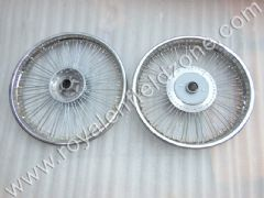FRONT 19 AND REAR WHEEL 18 IN 80 SPOKES FOR CLASSIC