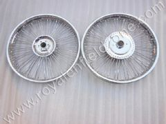 FRONT AND REAR WHEELS IN 80 SPOKES FULL CHROME