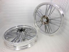 HARLEY Y DESIGN IN SILVER 19 AND 18 T.B WITH REAR DISC