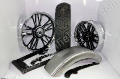 WHEEL KIT FOR FAT TYRE WITH RAW MUDGUARD