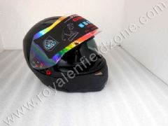 GSB FULL FACE HELMET IN MATT BLACK WITH GLARES INSIDE