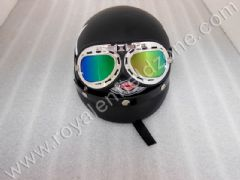 VINTAGE HALF HELMET WITH GLARES
