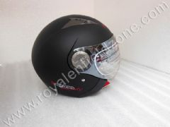 BEON CLASSIC MATT BLACK HELMET WITH GLARES INSIDE