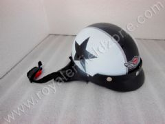 VINTAGE STAR HALF HELMET IN WHITE